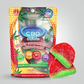 experience cbd 60mg watermelon gummies 2pc (net)