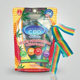 experience cbd 60mg rainbow belts 2pc (net)