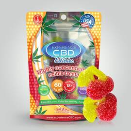 experience cbd 60mg gummy cherry 2pc (net)