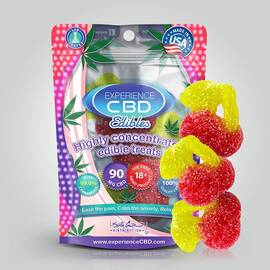 experience cbd 90mg gummy cherry 3pc (net)