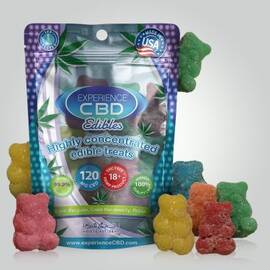 experience cbd 120mg gummy bears 8pc (net)