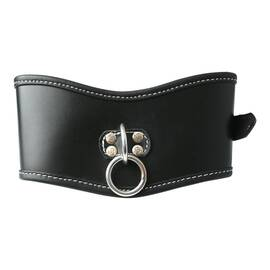 (d) edge soft leather posture collar black
