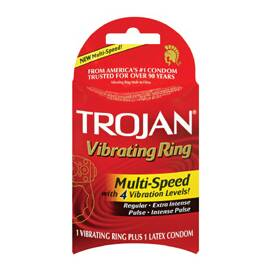 trojan multi speed vibrating ring
