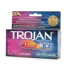trojan pleasures fire & ice 10 pack