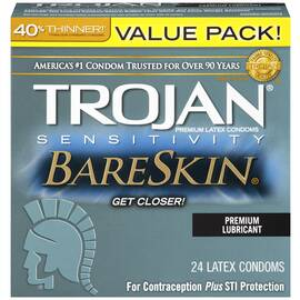trojan bareskin lubricated 24pk