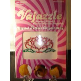 vajazzle flower heart (net)