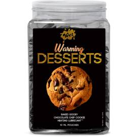 wet warming desserts chocolate chip cookie 10ml pouch counter display 144pcs