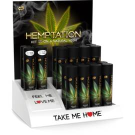 (d) wet hemptation 16 3oz bott w/ 4 free testers & free display