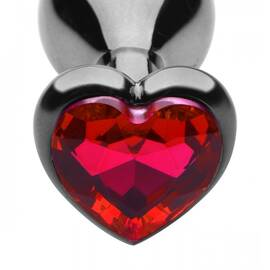 master series heart gem steel plug