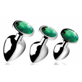 booty sparks emerald gem anal plug set (out end aug)