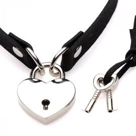 master series lock-it heart lock & key choker