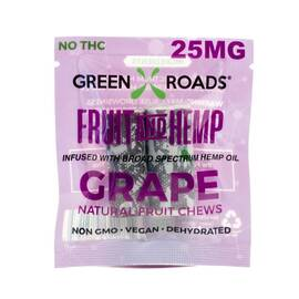 (d) cbd edibles 25mg on the go fruit + hemp grape (net)
